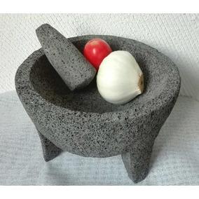 Molcajete 10 Pulgadas Piedra Volcánica Premium Envío Gratis!