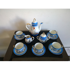 Juego De Te Porcelana Hecho En Japon 8 Piezas Hermoso