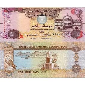 Cédula U A E Emirados Árabes - 5 Dirhams 2013 Fe