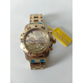 Lindo Relógio Invicta 0074- Dourado Com O Mostrador Cor Rosê