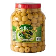 Aceitunas Verdes Sin Carozo Descarozada 000 1,5 Kg Arilart