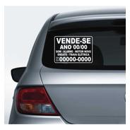 Adesivo Vende-se Carro Ano Vendo Veículo Recortado 30x21cm