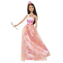 Juguete Barbie Princesa Teresa De Naranja Vestido De La Muñ