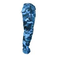 Pantalón Dama Táctico Cargo Camuflado Urbano Azul S.p.b.