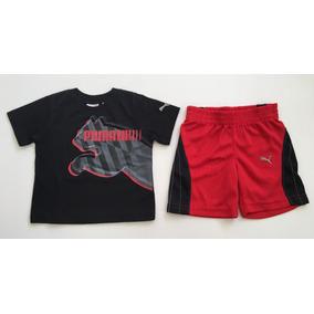 Conjunto Camiseta & Short Puma M/c 12m Novo C/etiqueta