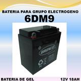 Bateria Grupo Electrogeno 6dm9 12v 9ah Gel