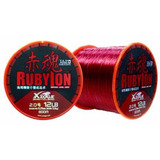 Linha Monofilamento Maruri Rubylon Vermelha 0.37 600 Mts