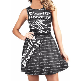 ce2edbea79 Vestido Charlie Brown Jr - Vestidos Curtos Femininas no Mercado ...