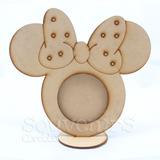 Portaretrato Minnie Mouse Mdf Fibrofacil Fotos Laser Córdoba