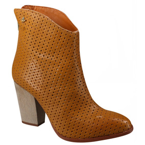 Bota Cravo E Canela Ankle Boot 145101-2   Katy Calçados