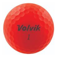 Pelotas Golf Volvik Vivid, 12 Pz. Color Rojo Mate.
