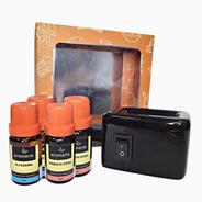 Kit Difusor Eletrico +4 Essências - Vanilla, Bamboo E Outros