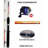 Kit Pesca Infantil Criança Spincast + Vara 1,30m + Linha