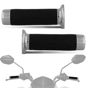 Manopla Moto Pro Tork Custon 22mm Com Ponteira Cromada