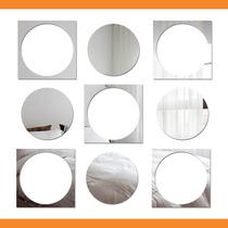 Espelho Decorativo Sala - Quadrados E Bolas - 83 Cm X 80 Cm