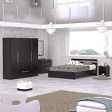 Combo Dormitorio Cama+armario+cajonera+nocheros Maderkit Cb2