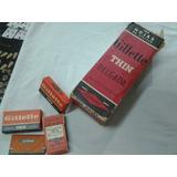 Hoja De Afeitar Gillette Roja Fabricada En Argentina Ano1955