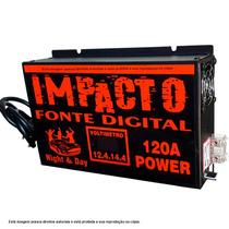 Fonte Automotiva Impacto 120a 14,4v C/ Voltimetro Automatico