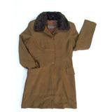 Abrigo De Mujer Marca Fouche Cuello Piel Talla 42 (l)