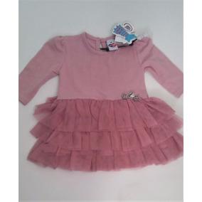 Vestido Infantil Festa Bebê Tule Rodado Criança ( G 9a12m)