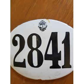 Antigua Chapa De Numeración De Calle 2841