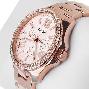 Reloj Dama Fossil Am4483 Oro Rosado Autentico Envió Gratis