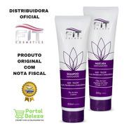 2-kit Matizador Shampoo E Máscara Silver 300g Fit Cosmetics