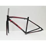Cuadro + Horquilla Bicicleta Goka R2 Ruta - Roja (s)