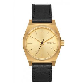 Reloj Medium Time Teller Doradonegro Nixon