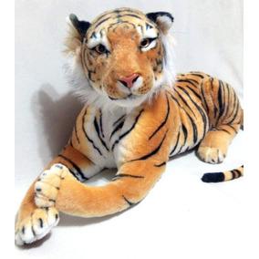 Bicho De Pelúcia Tigre Realista Animal Lindo Safari
