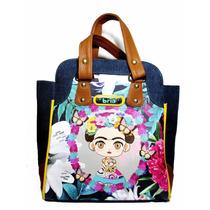Bolsa Y Mochila 2en1, Frida Kahlo, Marca Bria. Envío Gratis!