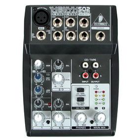 Mesa De Som Behringer Mixer Xenyx 502 110v 4 Canais Garantia