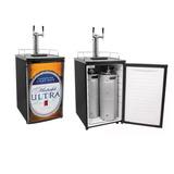 Kegerator Negro Barril Cerveza Refrigerador 2 Llaves