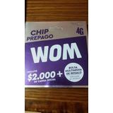 100 Chip Wom Saldo Inicial 2000 X 100 Unidades