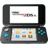 Nintendo New Nintendo 2ds Xl Negro + Azul Turquesa Nuevo