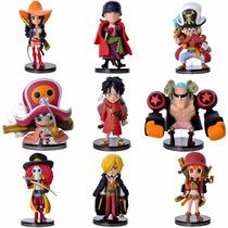 Kit 9 Miniaturas One Piece Para Coleção - Monkey D. Luffy