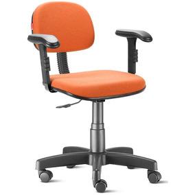 Cadeira Escritório Laranja Com Braços