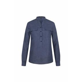 Blusa Virna Color Azul Andre Badi Talla 26-28 Ropa Premium
