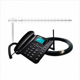 Kit Celular Rural Ca902 Aquário - Telefone Mesa +cabo+antena