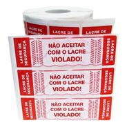 Etiqueta Lacre 104x30 Pizza Delivery Marmitex Kit 5.000 Verm