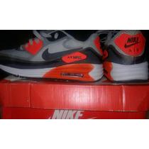 Tenis Nike Laranja /cinza. .segunda Linha. Ainda Não Usado