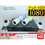 Camaras Kit 4 Hikvision Full Hd ,500 Hd, Ofert.- Instalado