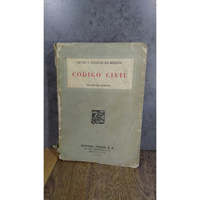 L592 Codigo Civil 1953 Leyes Y Codigos De Mexico