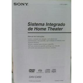 Manual Home Theater Sony Dav-c450