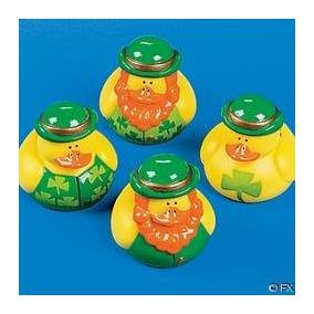 Una Docena (12) Patos De Goma Día Irlandés Del St. Patrick