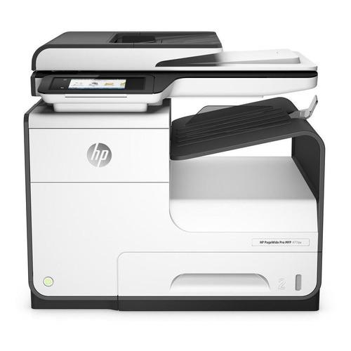 Impressora a cor multifuncional HP PageWide Pro 477DW com Wi-Fi 100V/240V branca e cinza