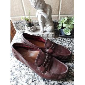 Zapatos Mocasines Talle 35 Guido Cuero Y Suela Color Marron