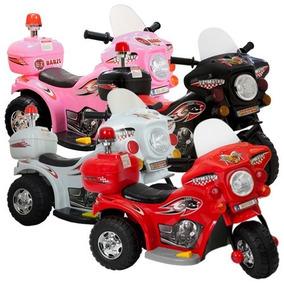 Mini Moto Elétrica Infantil Triciclo Criança Policia Inmetro