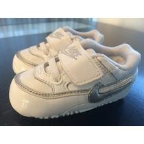 Zapatillas Nike Bebe. Cuero Blanco