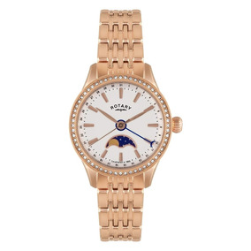 3a1be2ba9a3 Relógio Krug Baumen Ladies Charleston White Dial Golden Brac ...